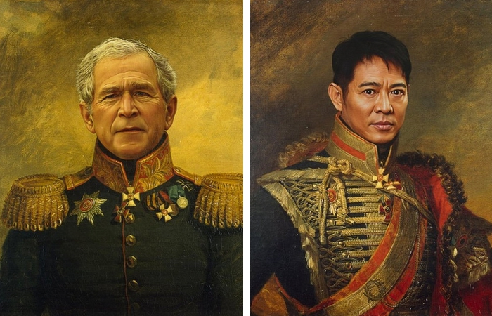 Кому из них вы бы доверили свою жизнь? Джордж Буш-младший и Джет Ли