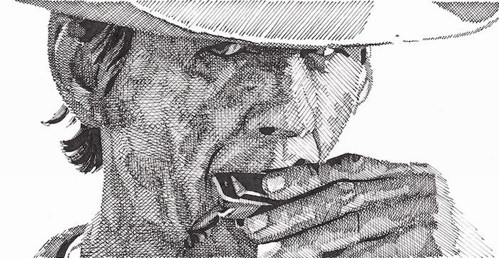 Чарльз Бронсон. Рисунок Rik Reimert
