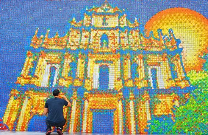 Фрагмент мозаики в Макао