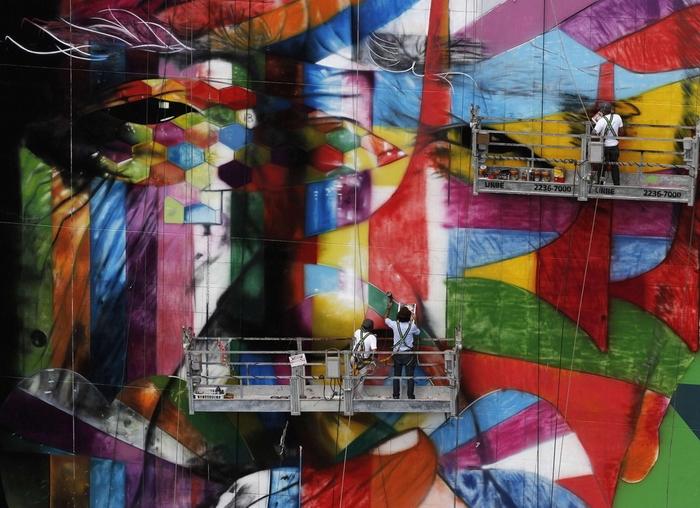 Граффити в финансовом центре Бразилии