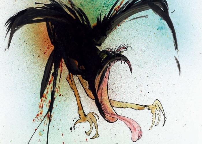 Одна из карикатурных птиц Ральфа Стедмана