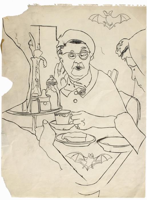 Безымянный рисунок (ок. 1958-1959 гг.)