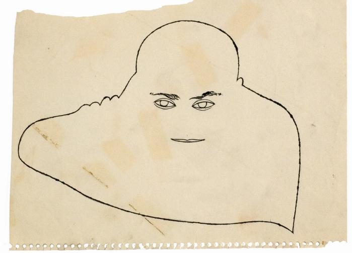 Портрет работы Уорхола, ок. 1951 г.