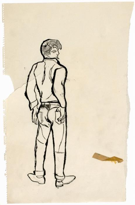 Мужчина, похожий на Джеймса Дина. Ок. 1957 г.