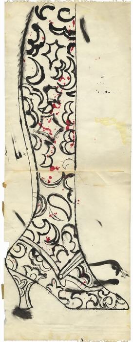 Рисунок чернилами и гуашью. Ок. 1956 г.