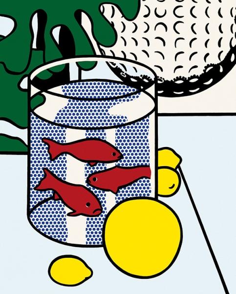 "Рой Лихтенштейн (Roy Lichtenstein) ""Still Life with goldfish"": дань уважения Матиссу"