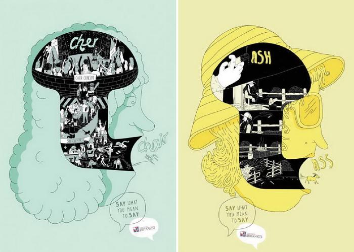 «Говори то, что хотел сказать»: серия плакатов от института английского языка «Британико» (Britanico)