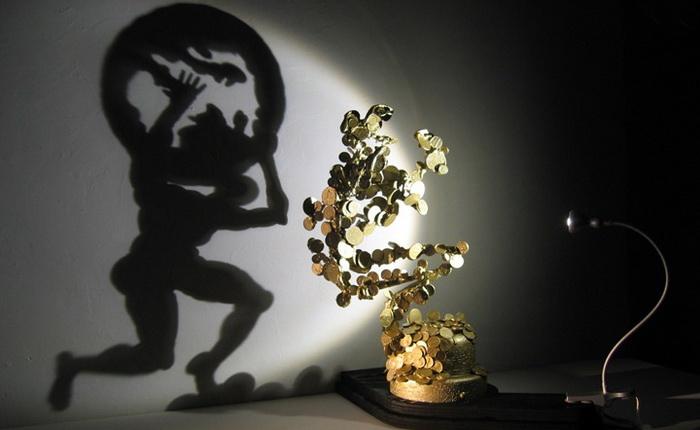 Удивительные скульптурные работы Дита Вигмана (Diet Wiegman). Магнит и железные монетки