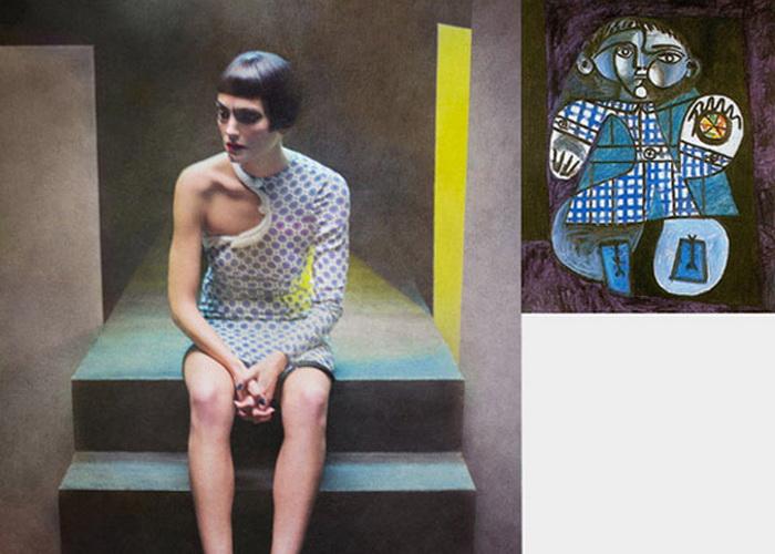 Серия фэшн-фотографий Эухенио Рекуэнко (Eugenio Recuenco), вдохновлённая работами Пабло Пикассо