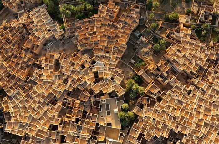 Город-оазис Гадамес (Ghadames). Вид сверху