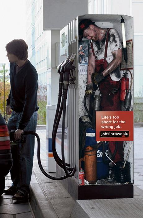 Реклама агентства по трудоустройству «jobsintown.de»