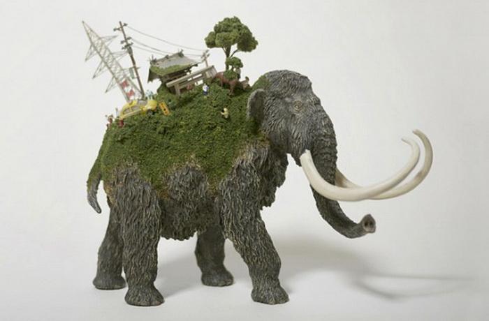 Миниатюрные скульптуры Маико Акибы (Maico Akiba) из серии «SEKAI»