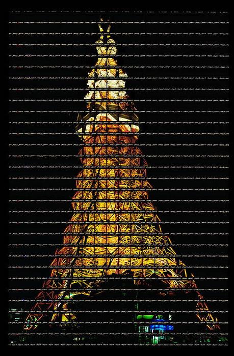 Фотографии архитектурных достопримечательностей Томаса Келлнера (Thomas Kellner). Телевизионная башня Токио