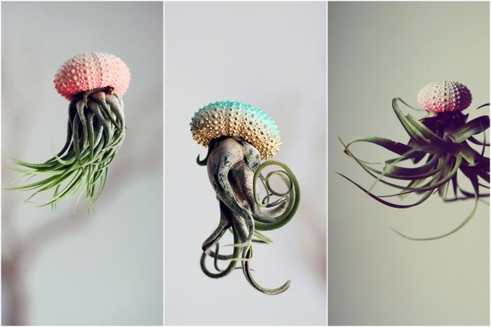 «Маленькие чудовища» - необычные, парящие в воздухе, кашпо для комнатных растений.