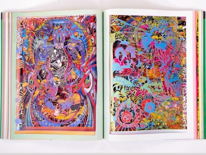 Работа Франчески Лав над книгой о психоделическом искусстве