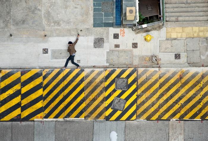 Фотограф Christian Аslund превращает улицы Гонконга в 2D видеоигру