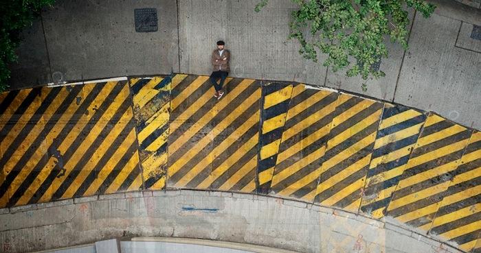 Christian Аslund делает улицы Гонконга двухмерными