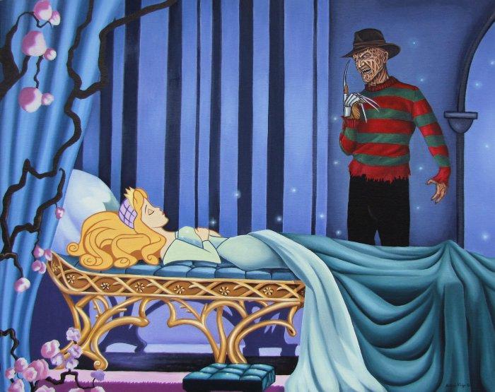 Кошмар на улицах Волшебного королевства: Фредди Крюгер наблюдает за Спящей красавицей.