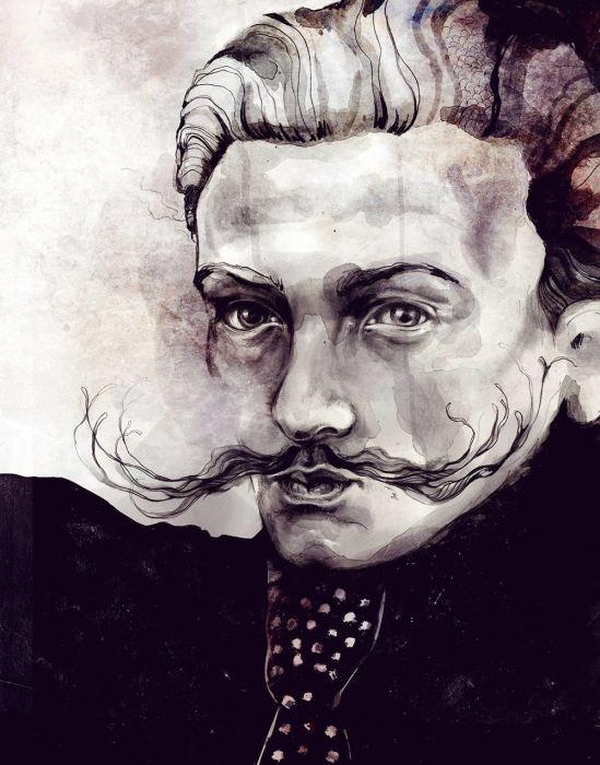 Портрет Сальвадора Дали.