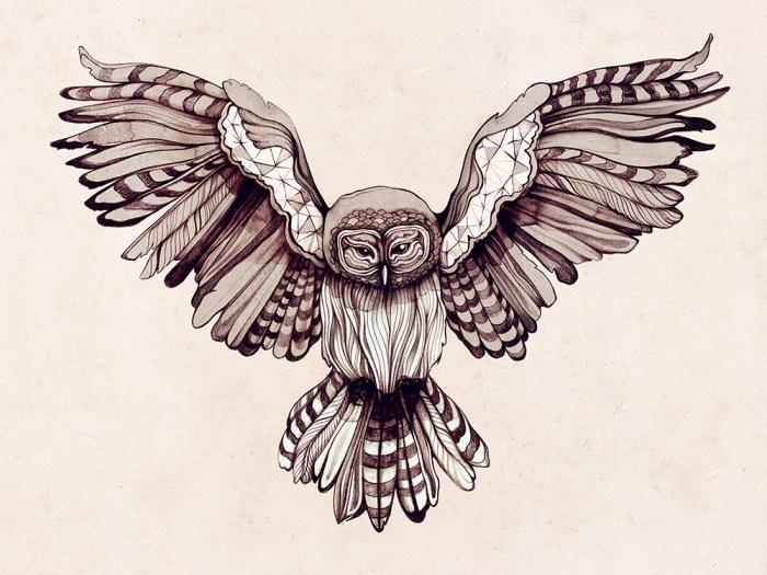 Расправив крылья.