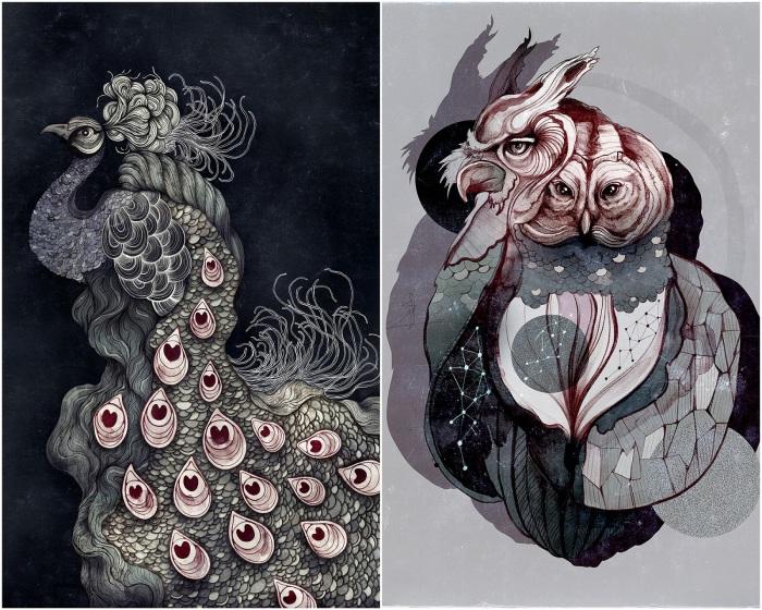 Изящные сюжеты  от иллюстратора Сары Блейк.