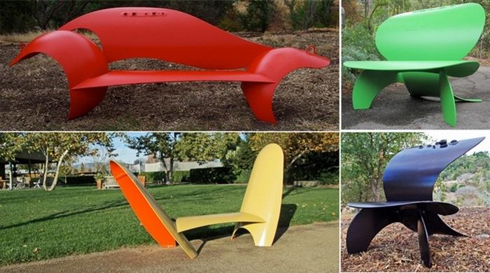 Скамейки от Колина Селинга