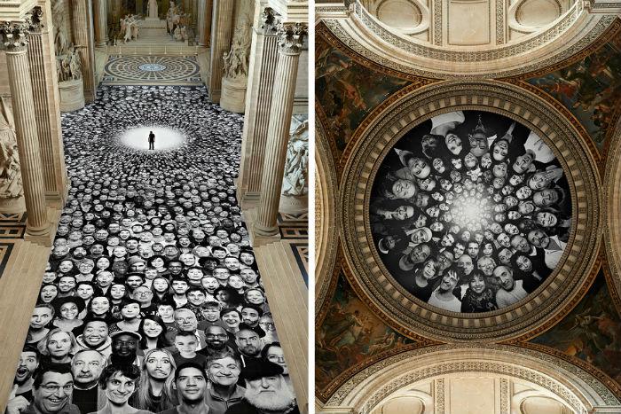 Масштабная инсталляция в помпезном здании парижского Пантеона