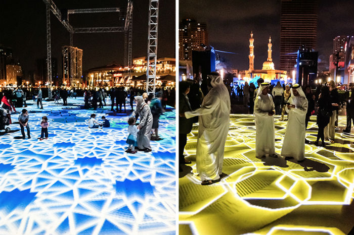 Впечатляющие цифровые инсталляции-арабески от Мигеля Шевалье
