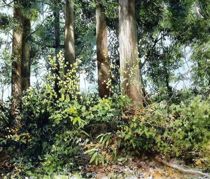 Пронзительные акварели японского художника