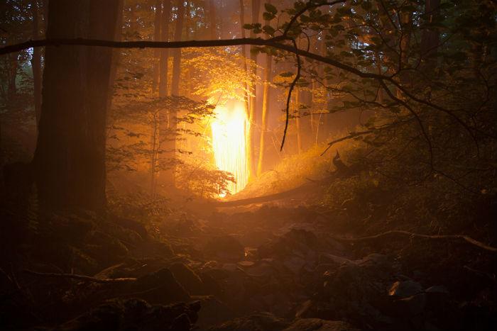 Вдохновившись «местами силы» и историями, связанными с ними, фотограф предложила зрителю окунуться в особое визуальное пространство