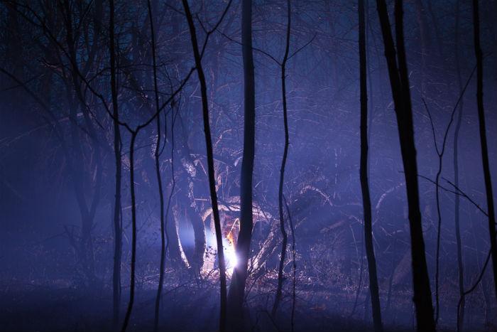 Серия «Burned over» посвящена восприятию пограничного пространства между природой и цивилизацией через призму мифологии и истории