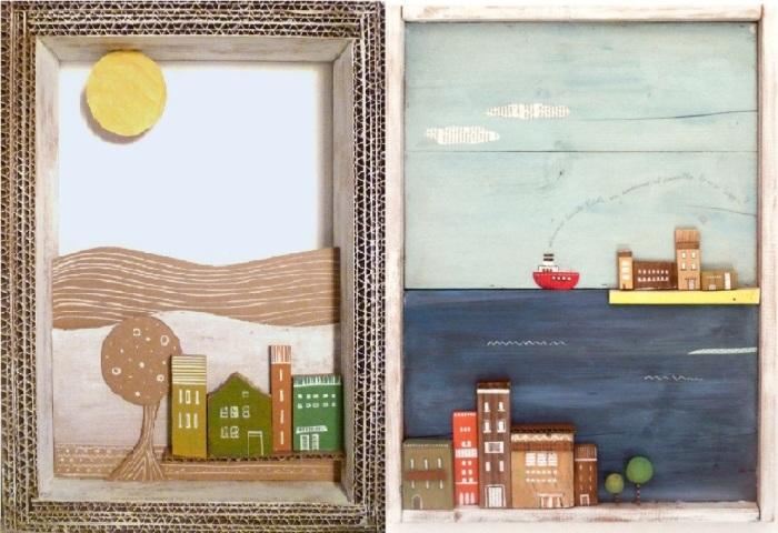 Уютные картонные города в исполнении итальянской художницы