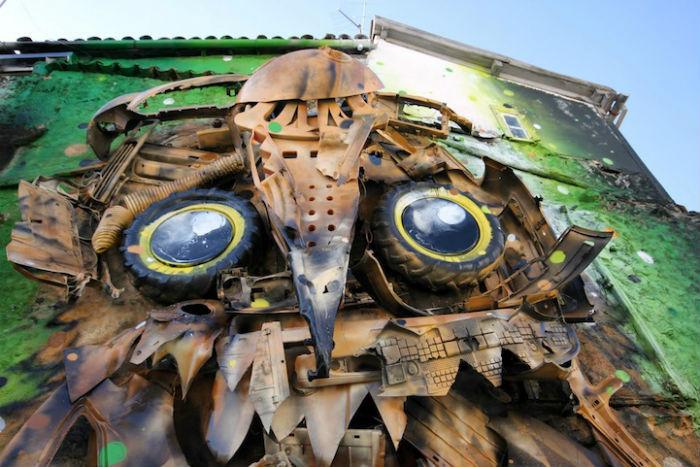 Фрагмент трёхмерного граффити-коллажа от португальского художника