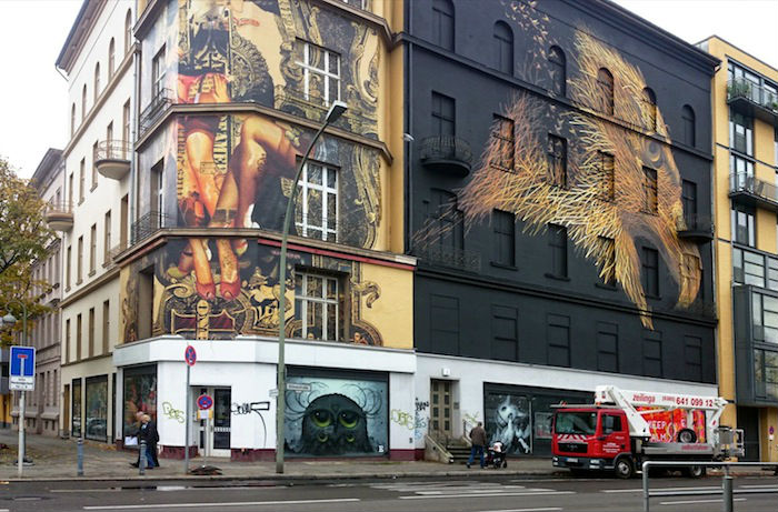 Очередной шедевр молодого художника украсил собой стену берлинского центра поддержки современного искусства