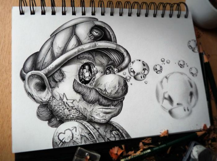 Супер Марио в прочтении Pierre-Yves Riveau