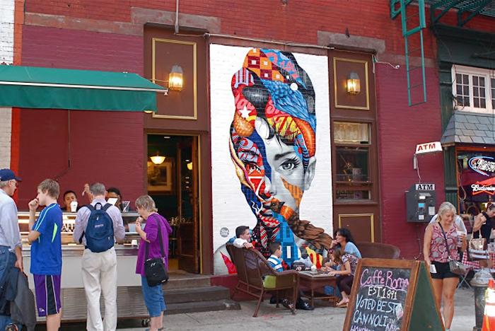 Одри Хепберн в прочтении мастера стрит-арта Тристана Итона