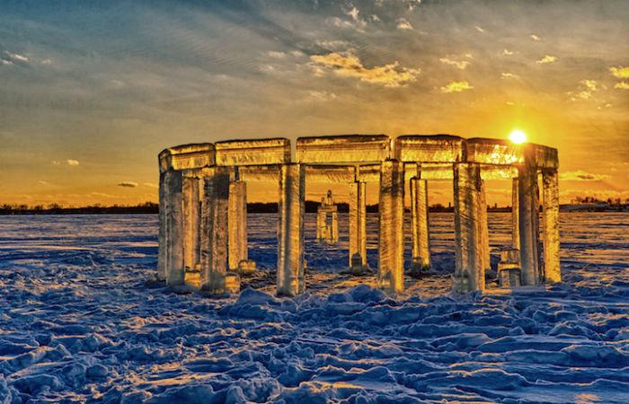 Ребята назвали своё творение «Айсхендж», по аналогии с загадочным каменным сооружением древности