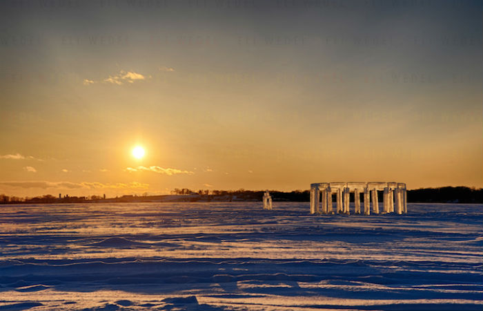 Ледяная скульптура появилась в штате Висконсин