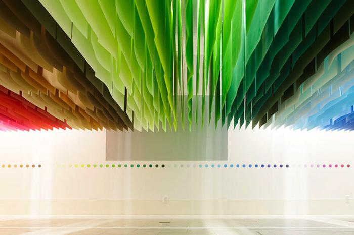 оригинальная инсталляция от французского дизайнера Emmanuelle Moureaux