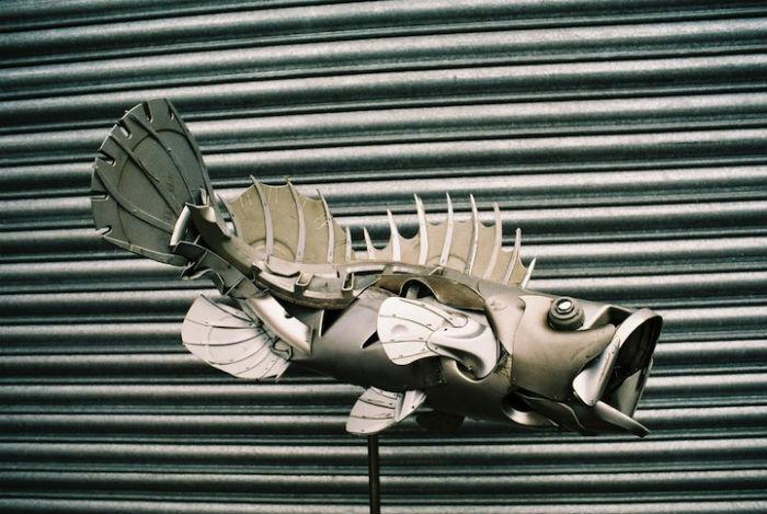 Животные из металлолома от талантливого британского художника