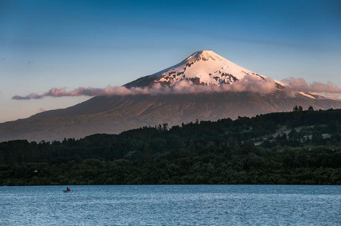 Действующий вулкан Вильяррика, Чили