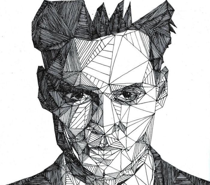Геометричные портреты знаменитостей от Джоша Брайана
