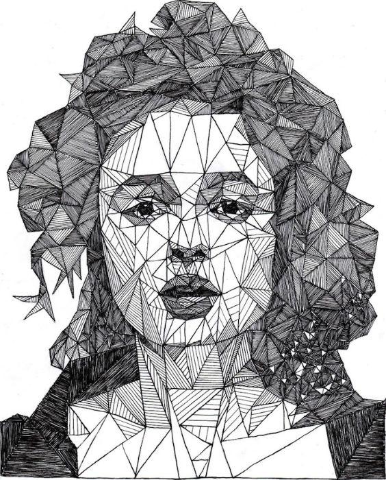На один портрет художник тратит, в среднем, от семи до двенадцати часов