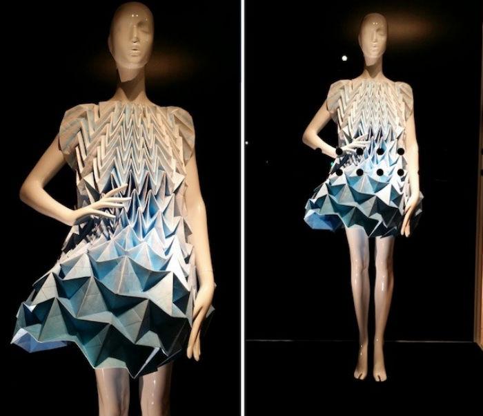Шикарные платья-оригами для молодёжного бренда Bershka