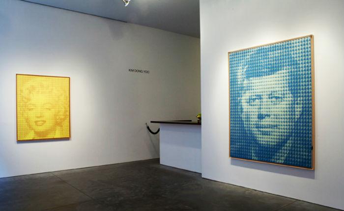 Портреты Ким Дон-Ю состоят из небольших повторяющихся изображений