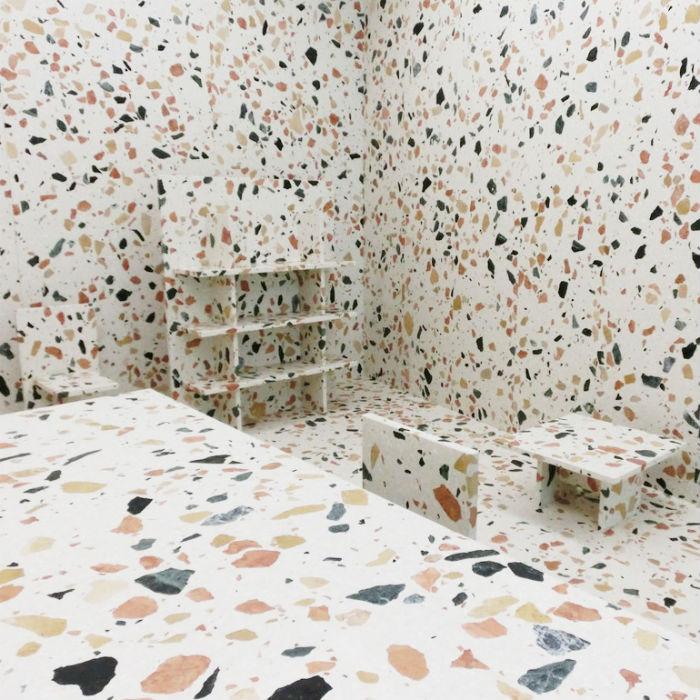 Мраморная комната: павильон Marmoreal на выставке в Милане