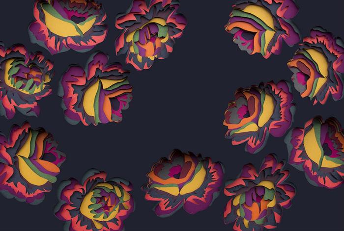 Жизнерадостные аппликации из цветного картона.