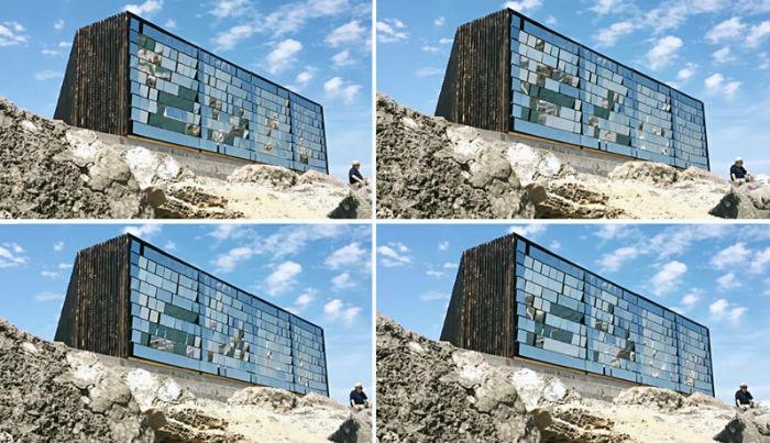 Зеркальный павильон Breath box представили на архитектурном фестивале во Франции