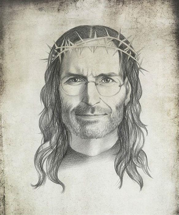 Стив Джобс. Графика Виктории Царьковой