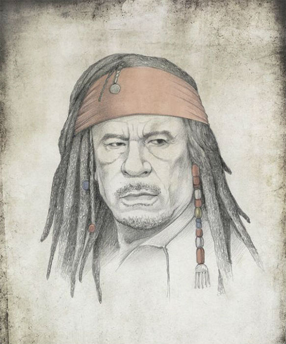 Муаммар Каддафи - портрет авторства Виктории  Царьковой